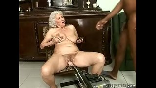 Interracial-granny-fuck