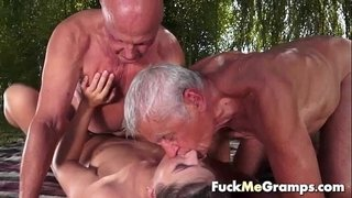 Teen-fucks-two-old-man-in-threesome