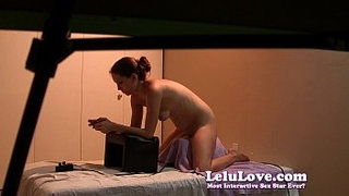 Voyeur-spying-on-girl-riding-her-Sybian-while-watching-porn