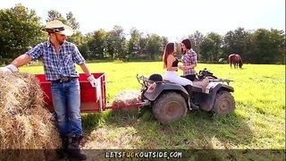 Let's-Fuck-Outside---Cowgirls-gets-Fucked-by-Cowboy-in-Outdoor-Threesome