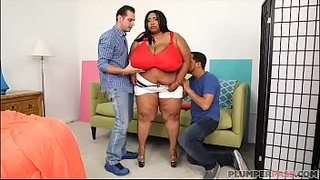 Huge-Tit-Ebony-BBW-Cotton-Candi-Gets-Double-Teamed