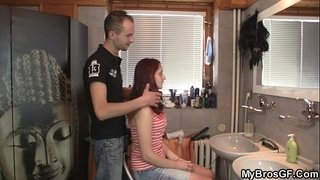 Redhead-girl-cheats-with-his-BF's-bro