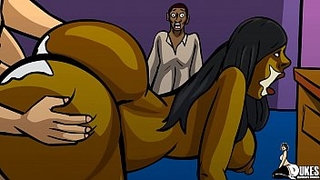 Black-cuckold-watches-wife-fuck-huge-white-cock!