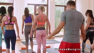 Blonde-getting-creampie-in-fitness-gym