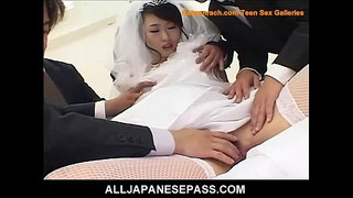 Kinky-Japanese-bride-is-the-gift-of-both-her-husband-and-his-groomsmen
