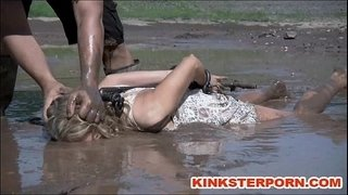 Outdoor-BDSM-Mud-Slave-Disgrace