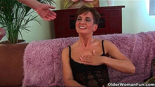 Soccer-mom-in-black-stockings-gets-drilled-hard