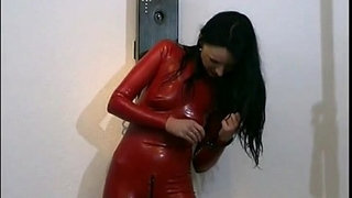Horny-girl-posing-in-latex-outfit