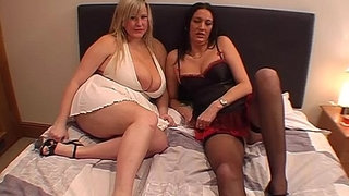 Massive-boobed-woman-and-mature-take-facials