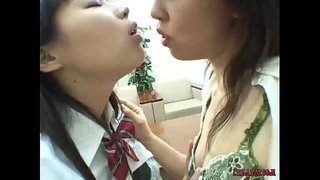 Asian-Schoolgirls-Kissing-Licking-And-Sucking-Nipples-Teasing-Clit-Licking-Hairy