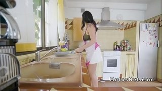 Dude-filming-sex-with-Latina-in-kitchen