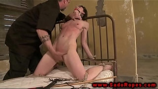 Tied-up-sub-with-gag-getting-whipped-by-her-master