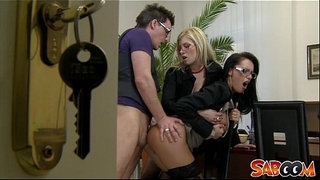Office-Threesome-Spy-Cam-Video