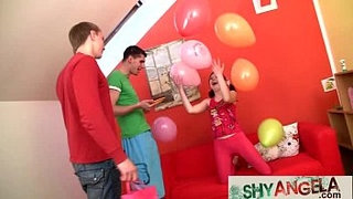 Young-beauty-fucked-by-2-boys-on-her-18yo-birthday