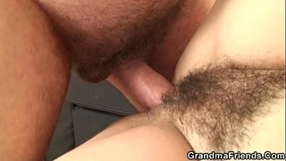 Her-hairy-old-pussy-is-toyed-and-fucked