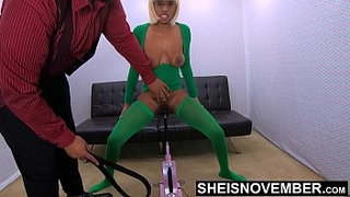 Brutal-Whipping-My-Brat-Daughter-Clit-&-Pussy-Who-Stole-My-Money,-BDSM-Black-Babe-Msnovember-Cunt-Stabbed-By-Sex-Machine-Standing-Up-on-Sheisnovem
