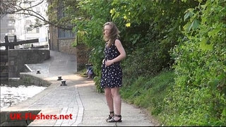 Sexy-teen-flasher-Lauras-amateur-public-nudity-and-voyeur-exposure-of-small-tits