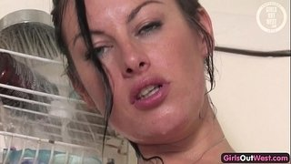 Pierced-Australian-pussy-fucked-with-a-toy