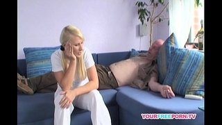 Blond-Girl-Fucks-Best-Friend's-Daddy-at-her-Place
