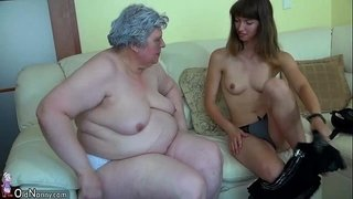 Big-fat-Granny-with-a-cute-girl