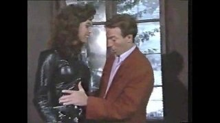 Sexy-Brunette-In-Leather-Sucks-And-Gets-Stuffed-Video