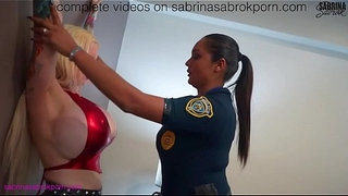 Sabrina-Sabrok-gets-arrested-by-police-woman