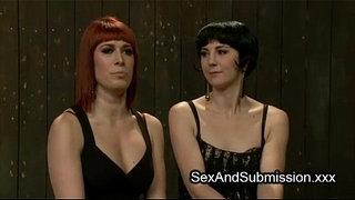 Lesbians-made-to-anal-fuck-with-strapon-dildo-fastened-to-face