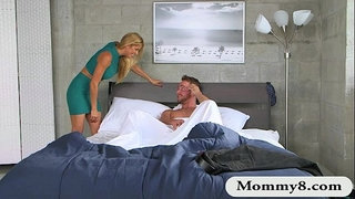 Teen-catches-MILF-getting-fucked-by-her-horny-BF-on-the-bed
