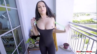 Almost-got-caught-while-fucked-my-russian-MILF-stepmom